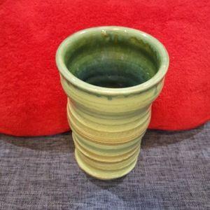 **Hand-Spun Pottery Vase**